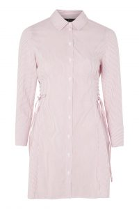 Pink Stripe Corset Shirt Dress