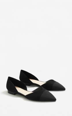 12 Pieces for a Hepburn-inspired Wardrobe Mango Pointed toe flat shoes - $39.99