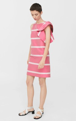 12 Pieces for a Hepburn-inspired Wardrobe Mango Striped ruffle dress - $39.99