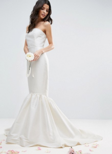 ASOS BRIDAL Trumpet Hem Maxi Dress