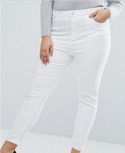 White curve skinny jeans