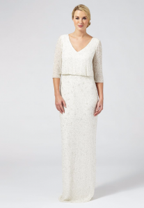 Debenhams - Ben De Lisi Occasion - Ivory embellished 'Margerite' v-neck wedding dress