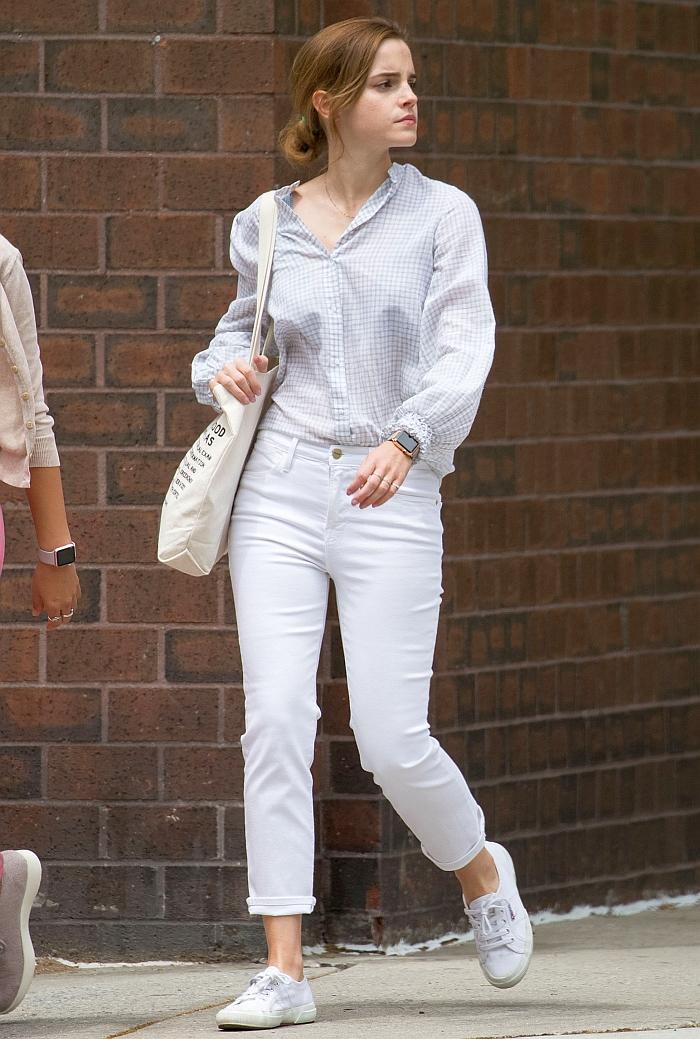 Emma Watson - White Jeans