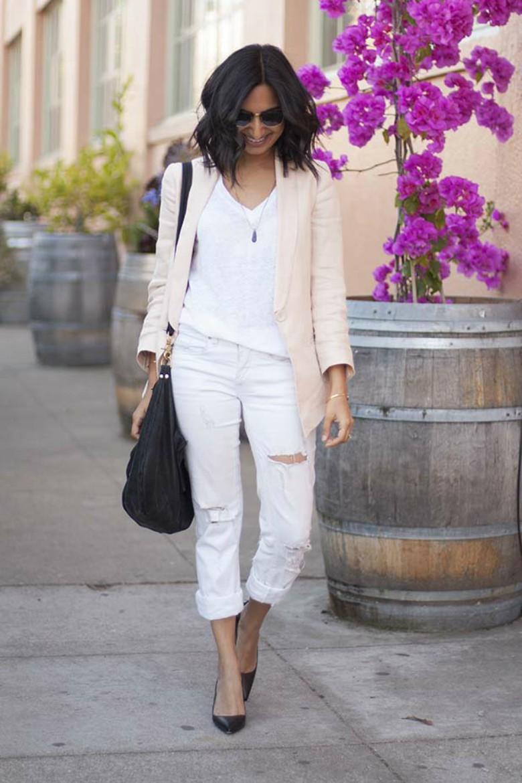 Spring Summer White Jeans