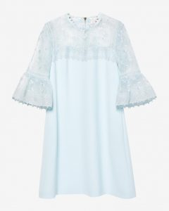 Ted Baker RAECHAL - Lace peplum dress Pale Blue
