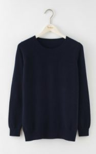 Boden RELAXED CASHMERE CREW NECK - $99 - $138.60 in navy