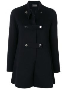 Farfetch Emporio Armani button-up coat