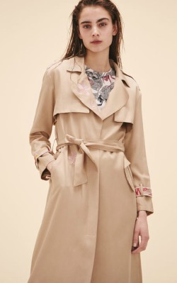 Top 3 trench coats - Maje TRENCH COAT WITH EMBROIDERY
