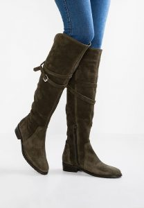 mint&berry Over-the-knee-boots - khaki