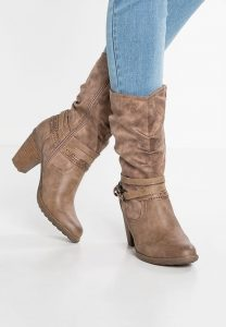 s.Oliver RED LABEL - CowboyBiker Boots - Brown