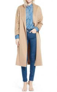 Nordstrom AYR 'The Robe' Camel Hair Maxi Coat - $585