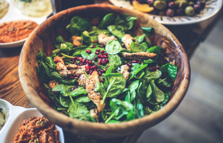 Top 5 ways to increase metabolism - protein, chicken, seed and spinach mix