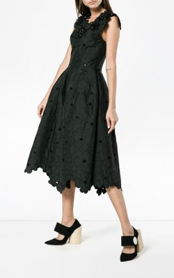 Farfetch Simone Rocha Floral Cloque Dress - $645 - short black formal dress