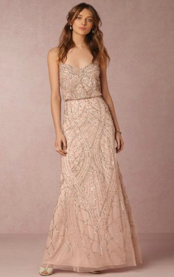 What to wear to a black tie dance - full length detailed rose god dress with v-neck and straps